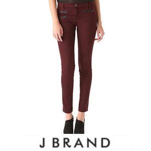 J Brand Zoey Skinny Moto Jeans in Lava